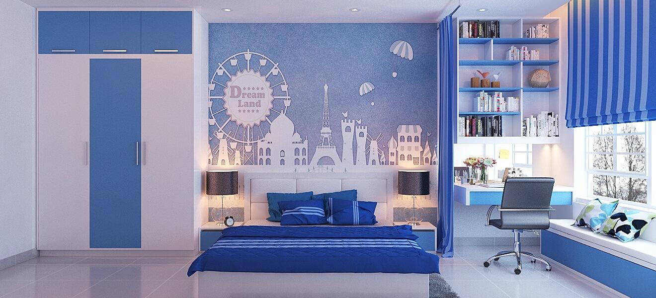 Giúp phòng ngủ thêm quyến rũ với tông màu ngọc lam