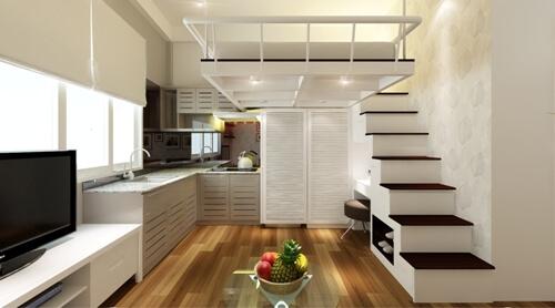 Sửa nhà thiết kế phòng bếp ăn cho căn hộ chung cư nhỏ